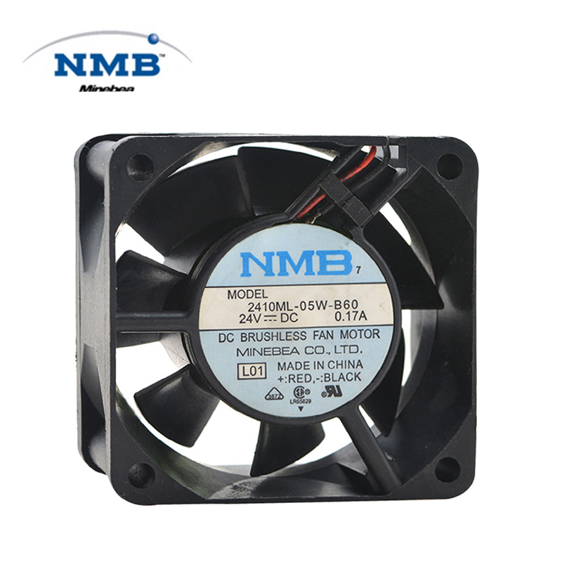 Original ABB 2410ML-05W-B60 DC 24V 60*60*25 Bearing DC Fan 24V 6025 Cooling Fan Radiator