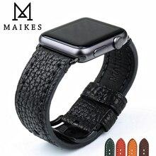 MAIKES Cinturino Per Apple Watch Band 44 millimetri 40 millimetri Serie 4 3 2 1 e di Apple Cinturino di Vigilanza 42mm 38mm iWatch Braccialetto di Vigilanza Del Cuoio