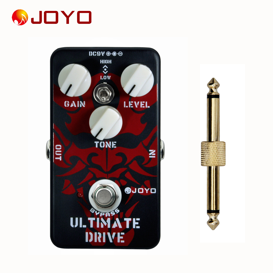 JOYO JF-02 Ultimate Drive Effect Pedal+1 pc pedal connector guitar effect pedal аксессуары для гитары ultimate jf 02 joyo jf 02
