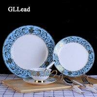 GLLead Европейский стиль столовая посуда из китайского фарфора качественная столовая посуда отель ужин в ресторане керамический набор столов