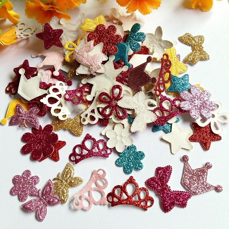 Handmade Felt Bouquet with Glitter Bows