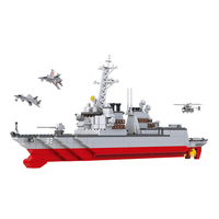 615Pcs Army NAVY Warship Model Action Toy Figures Building Blocks Destroyer Plane Carrier Compatible Legoings Military Weapons
