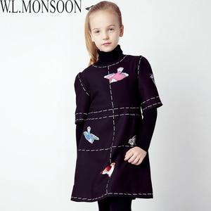 Image 5 - W.L.MONSOON Girls Dress Vestidos 2017 Brand Winter Children Chrismtams Dress Kids Clothes Princess Dresses for Girls Clothing