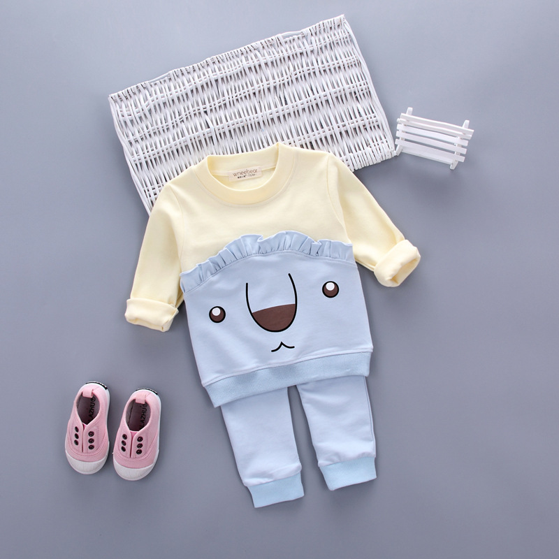 Spring Autumn baby boy clothing set baby girls clothes long sleeve t-shirt + pants 2pcs suit cotton baby girl newborn clothing cotton baby rompers set newborn clothes baby clothing boys girls cartoon jumpsuits long sleeve overalls coveralls autumn winter