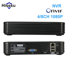 Full HD 4Ch 8Ch Mini NVR real P2P CCTV NVR 1920*1080P VGA HDMI ouput ONVIF 2.0 For 1080P IP Camera Security System XMeye Hiseeu