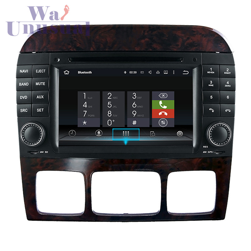 7 Android 7.1 Car Audio Player for Benz S W220 (1999-2006)/Benz CL-W215(1998-2005) with GPS+BT+WIFI+Mirror Link+Quad Core16G