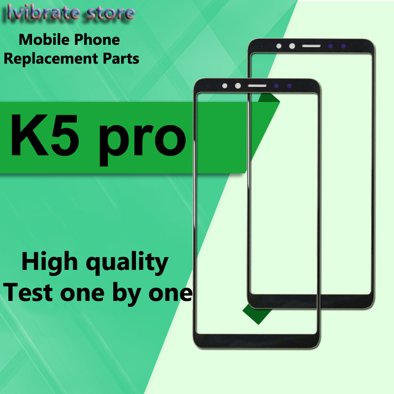 For Lenovo K5 Pro L3804 Front Outer Glass Lens Touch Panel Screen For Lenovo K5pro Replacement Repair LCD Touch Glass Digitizer
