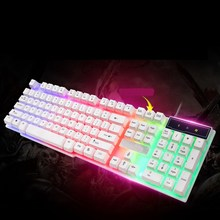 USB Wired Pc PC Keyboard with backlight Gaming keyboard inflictor 104 Keys gamer sem fio klavye keycaps dota2 LOL