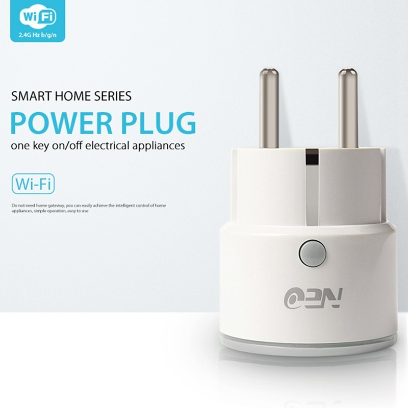 NEO Wifi Smart Plug EU/US/UK Socket Support Alexa,Google Home,IFTTT Outlet With Timer And Remote Control Via Mobile Phone neo wifi us smart plug remote control appliance power on off via app wifi socket for amazon alexa google ifttt tuya smart