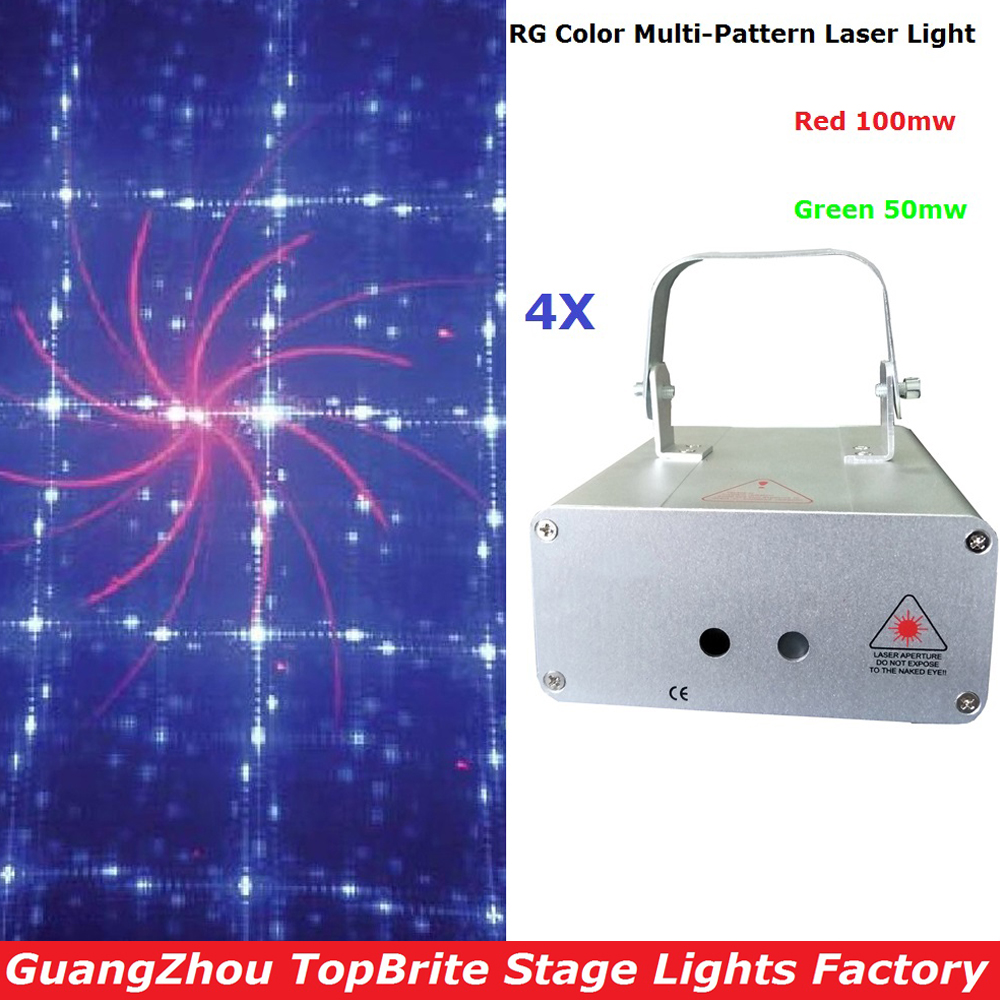 4XLot Best Price Stage Laser Lights 150mw RG Full Color Animation Laser Light With DMX512 And 12 Kinds of Graphics Fast Shipping
