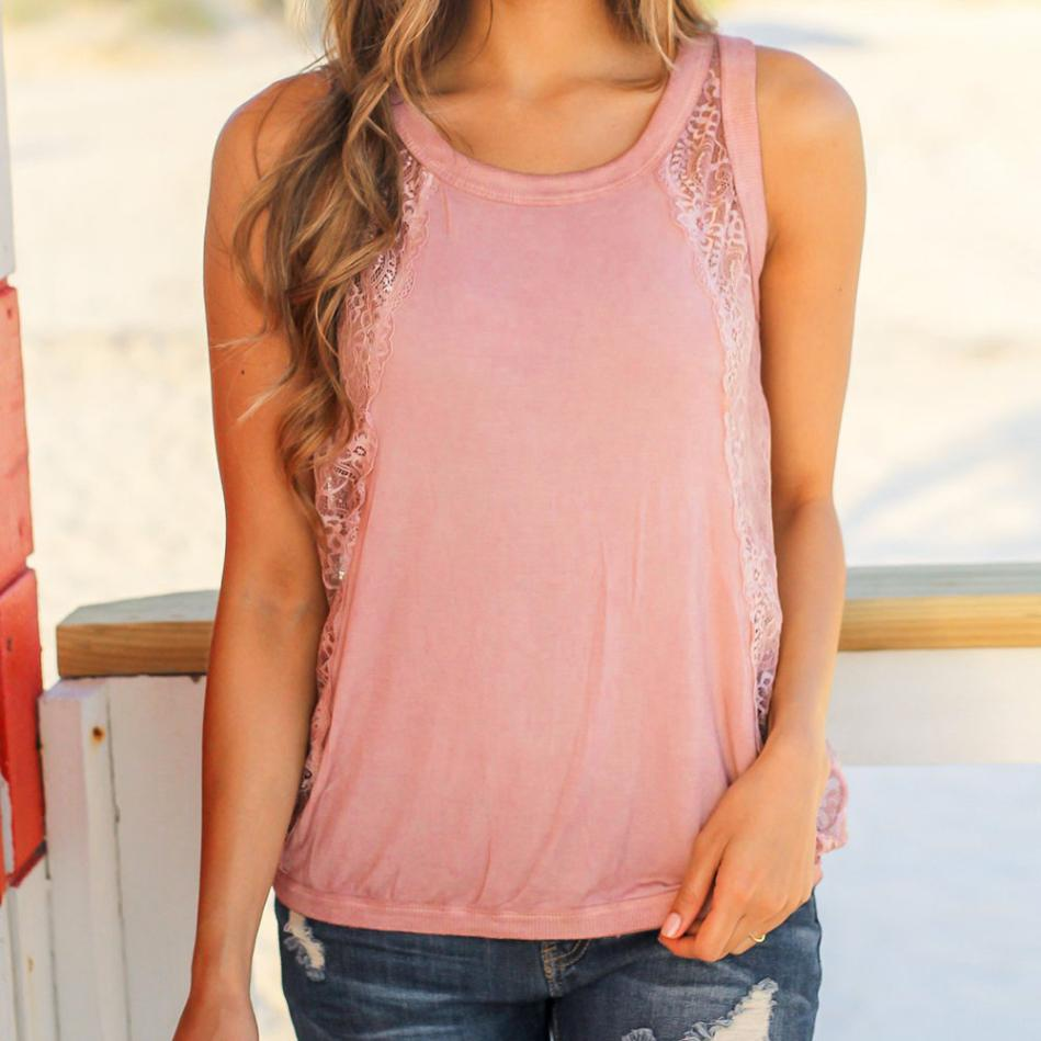Perspective Plus Size Blouse Crochet Lace Tank Top Women Backless Sexy Summer Top Casual Sleeveless Vest Femme Shirt Top#GH