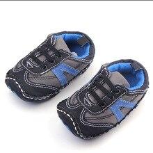 2016 Hign Качество Твердым Дном Три Цвета Дети Baby Boy Спортом Прогулки Обувь 0-12 Месяцев