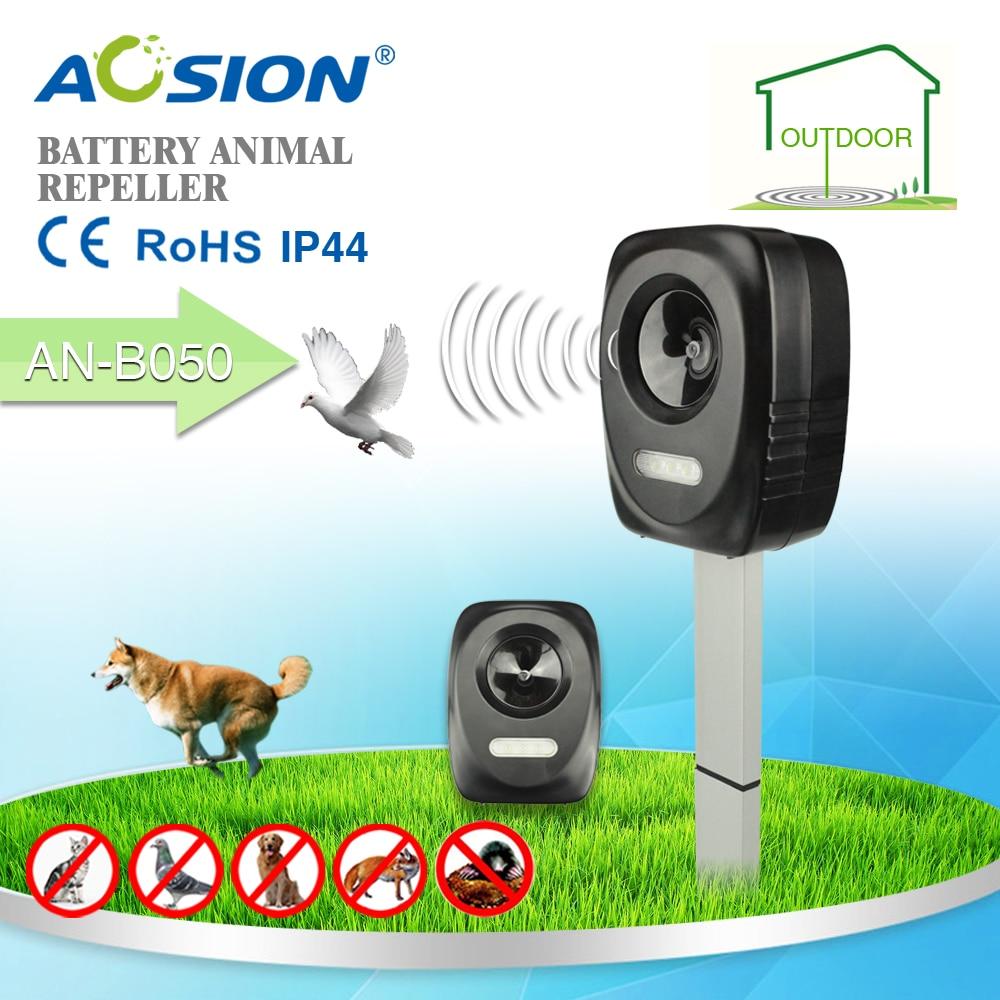Electronic ultrasonic garden outdoor farm animal repeller Birds Dogs Cats Fox Deer Repellent Deterrent Scare with flashing