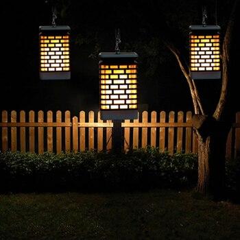 Светодиодный солнечный свет, наружный сад, водонепроницаемая светодиодная Солнечная лампа, Мерцающая Бездымная беспламенная лампа, мерцаю...