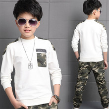 2018 New Baby Boys Casual Children Clothing Sets Long Sleeve  Boy Camouflage Shirt+Pants Kids Outfits 2PCS Sports Suit Clothes цена