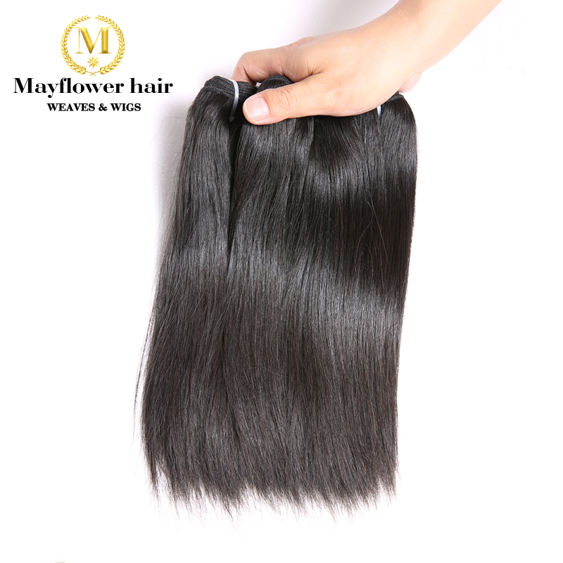 Mayflower Super Double Drawn Vietnamese Straight virgin hair Natural color 1/2/3/4 bundles mix length from 8