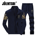 Jolintsai 2017 New Fashion Sportswear Men Style Long Sleeve Hoodies and Pants Male Tracksuit Set Sudaderas Hombre Sweatshirt