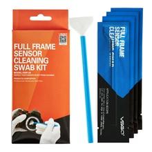 цена на Professional VSGO Full Frame Sensor Cleaning Swab Kit 10pcs Pack DSLR Camera Sensor Swab CCD CMOS Lens Phone Screen Cleaning.