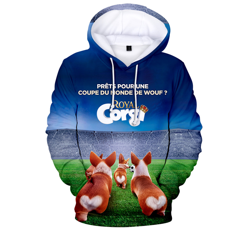 Men's Clothing Exquisite Craftsmanship; Amicable 2019 Movie The Queens Corgi Hoodie Pocket Hooded Sweatshirt Sleeves For Men And Women Wearing A New Hoodies