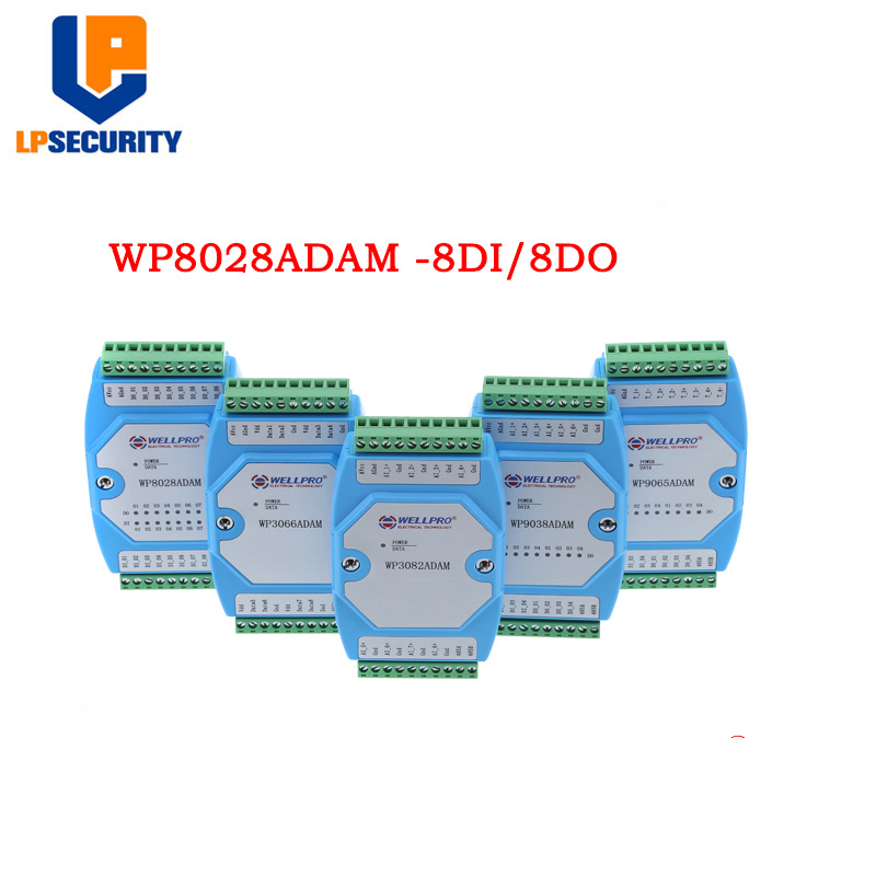 WP8028ADAM 8DI/8DO MODBUS RTU Module / Optocoupler Isolated / RS485