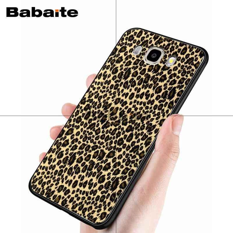 Babaite Thời Trang Sexy Leopard Print Panther Mới Đến Di Động Màu Đen Trường Hợp Điện Thoại cho samsung j7 2017 j8 j6 j2pro note8 note9 trường hợp