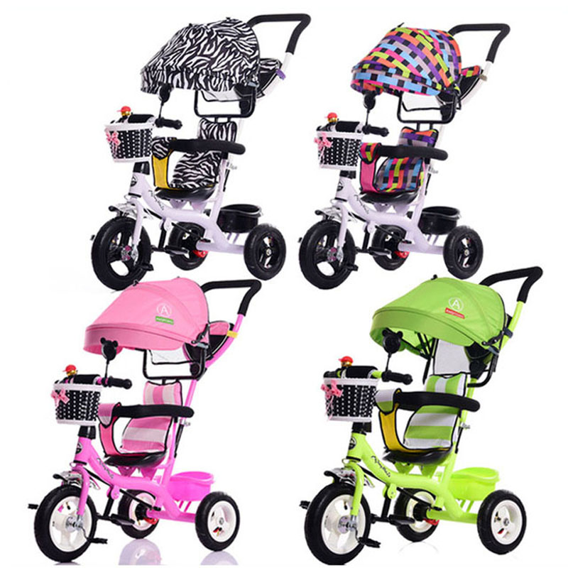 Portable Baby Toddle Child Tricycle Bike Trolley Three Wheels Stroller Removable To Wash Tricycle Pushchair Pram Bicycle 6M~5Y кеды fornarina fornarina fo019awrsg58