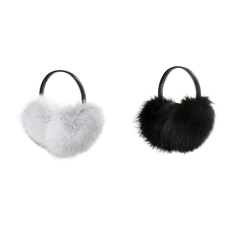 New Women's Real Genuine  Fox Fur Winter Warm Earmuffs