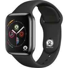 Bluetooth умные часы серии 4 SmartWatch чехол для Apple iOS iPhone Xiaomi Android смартфон не Apple Watch (красная кнопка)