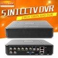 Mini 5 em 1 8ch cvi/tvi ahd dvr 1080n ou 960 h (analógico) CCTV gravação 960 P 720 P AHD DVR Video Recorder Suporte Multi Linguagem