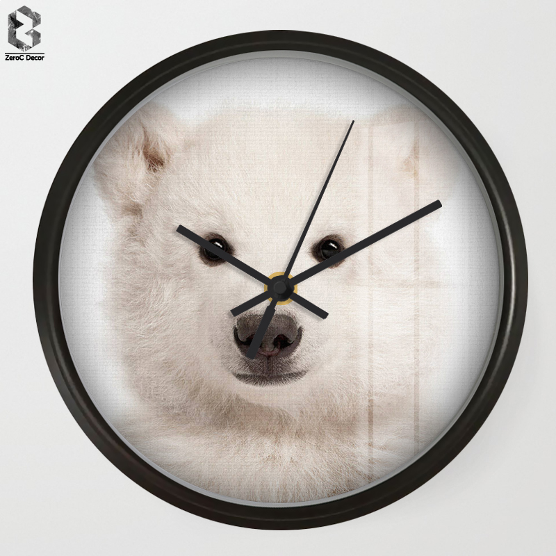 Chic Art Wall Clock Polar bear For Kids Room Wall Decor, Table Decorative Mute Quartz Cl ...