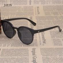 JAXIN Round Retro Kids Sunglasses Fashion Joker Sun Glasses Girl Multicolor Coating Cute Boy protection baby eye UV400