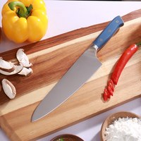 Multifunctional Chef Knife Japanese 440 High Carbon Stainless Steel Kitchen Knife Ergonomic ABS Blue Handle 8''