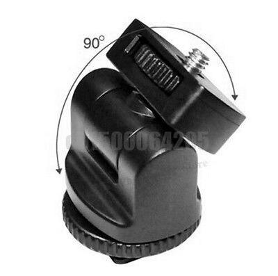 360 1 4 Screw Flash Hot shoe mount adapter Adjustable angle pole FOR DSLR Flash light