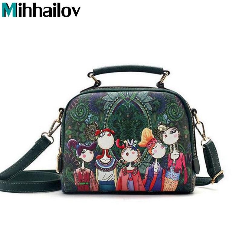 e87b3a7907 Fashion Korean handbag beautiful Women PU leather Bag Tote Bag Printing  Handbags style Satchel drop WHOLESALES
