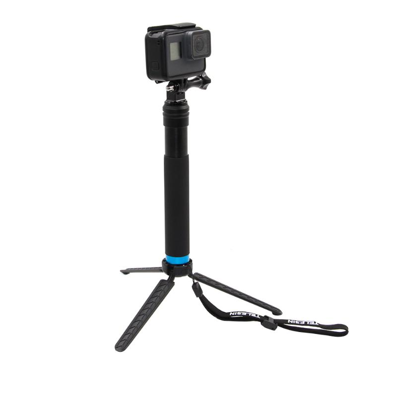 Waterproof Aluminum Alloy Handheld Monopod Tripod Selfie Stick Pole for Gopro Hero 4 5 6 SJCAM for Yi