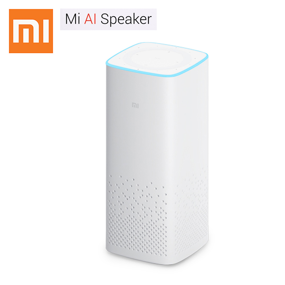 Xiaomi Mi AI Speaker Two-Channel Stereo Play Music CPU Cortex A53 Voice Remote Control Bluetooth Dual Band WiFi For Ipod IPhone sp 01 stereo compact speaker w 3 5mm plug for iphone ipod white