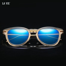 купить 2017 New Fashion Brand Designer Plastic Wrap Frame Glasses Sunglasses Women Vintage Fashion Design Polarized Sunglasses Ladies дешево