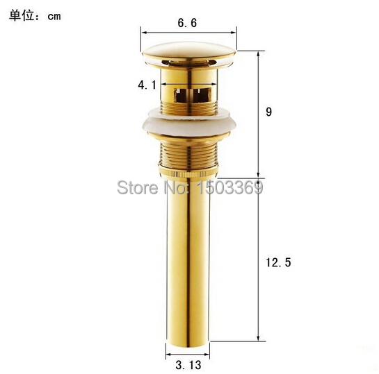 High quality Solid Brass Bathroom Lavatory Sink Push-down Pop Up Basin Drain With Gold Finish bathroom parts faucet accessories free shipping wholesale and retail solid brass bathroom lavatory sink pop up drain rose gold color