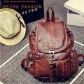 Путешествия мужчины back pack винтаж кожа рюкзак студент водонепроницаемый drawstring школьные сумки дамы ноутбук рюкзак cartable