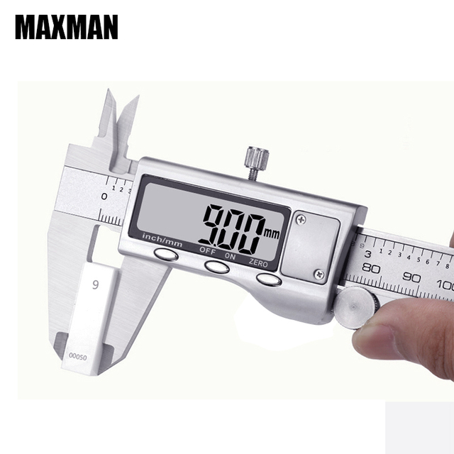 MAXMAN 0-150mm Calipers Measuring Tool Stainless Steel Indication Error 0.02mm Measuring Tool Calibre Digital Tools Calibrator