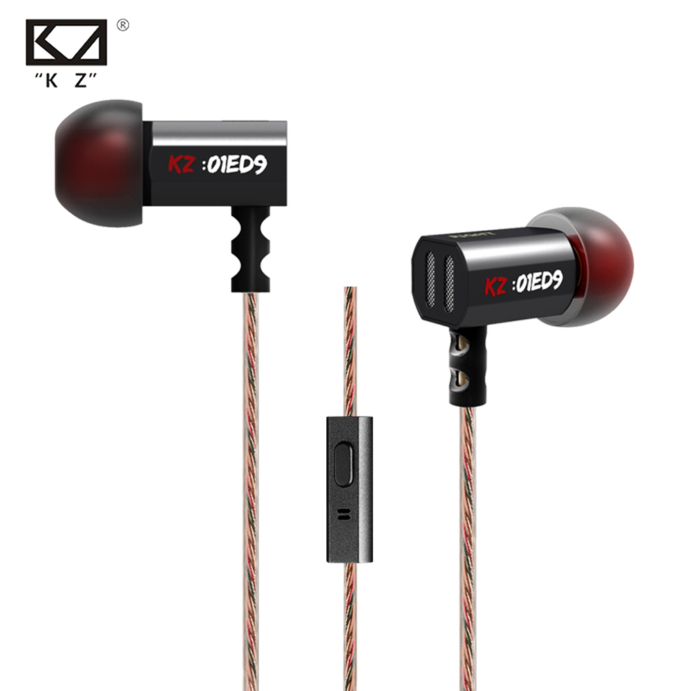 Hot Original KZ ED9 3.5mm In Ear Earphone Heavy Bass HIFI DJ Earphone For Mp3 Mp4 Phone Common Free Shipping vel vel 03 06 04 02202