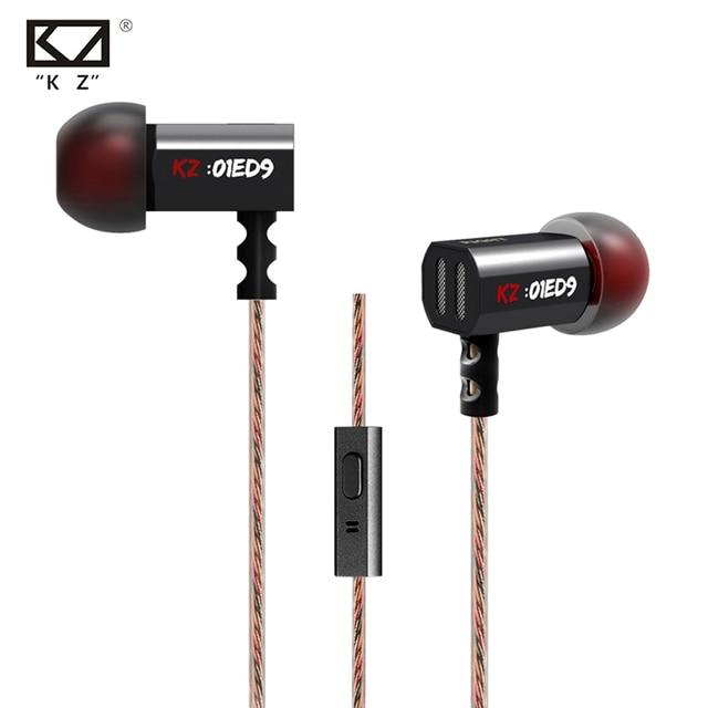 Hot Original KZ ED9 3.5mm In Ear Earphone Heavy Bass HIFI DJ Earphone For Mp3 Mp4 Phone Common Free Shipping