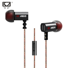 Best Buy Hot Original KZ ED9 3.5mm In Ear Earphone Heavy Bass HIFI DJ Earphone For Mp3 Mp4 Phone Common Free Shipping