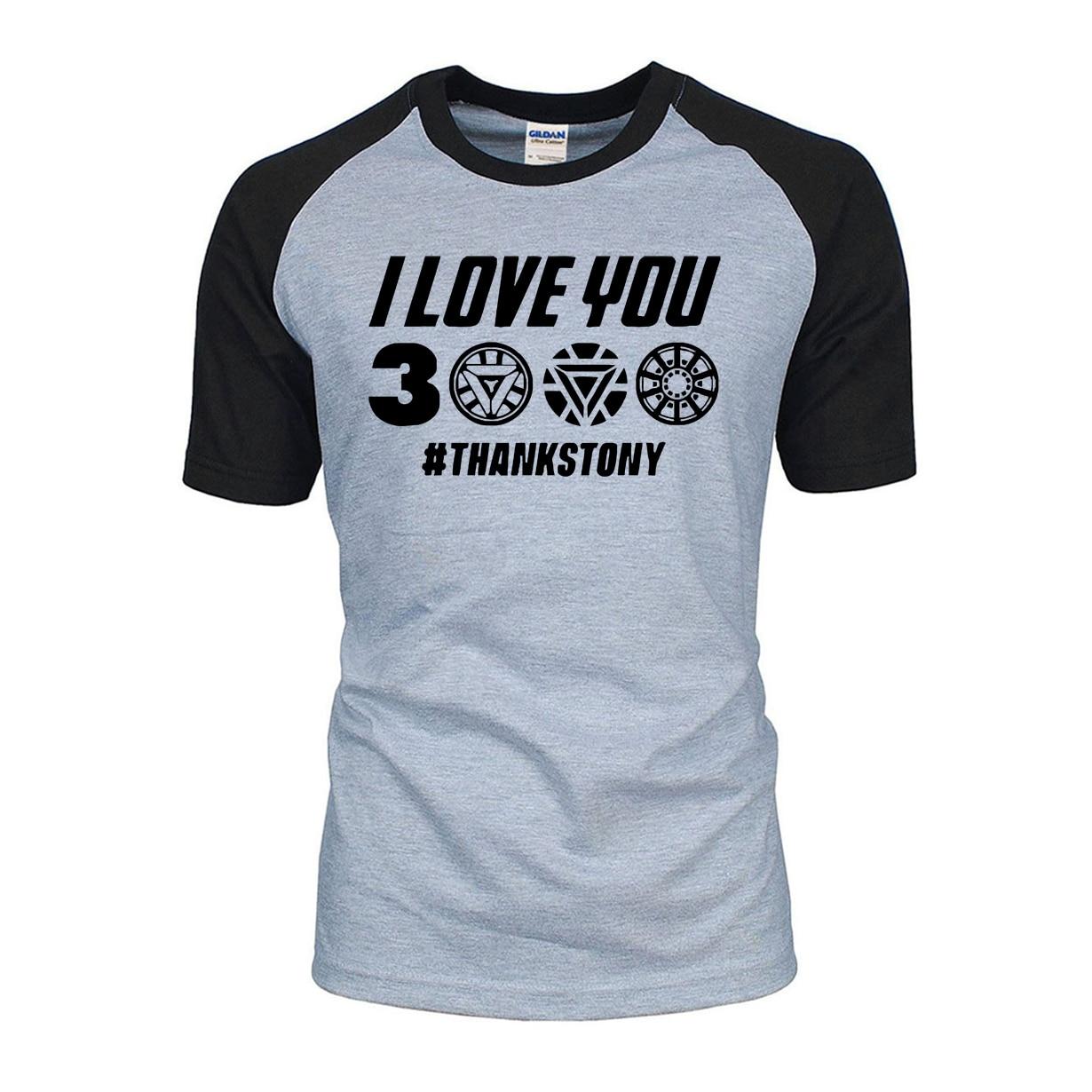 The Avengers 4 I Love You 3000   T  -  Shirt   Men Thanks Tony Stark Iron Man 2019 New Summer Raglan   T     Shirts   Brand Tops For Fans BZ065