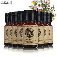 AKARZ słynne posiłki o wartości marki jaśmin eukaliptusa z drzewa herbacianego Citronella piżmo Oregano róża kwiat wiśni olejki eteryczne 10 ml * 8