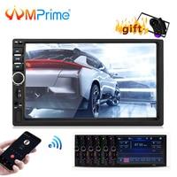 AMPrime Autoradio 2din 7 Car Multimidio Player Bluetooth Mirrorlink 2din Car audio Aux/TF/USB/FM RearView Camera MP4 MP5 Player