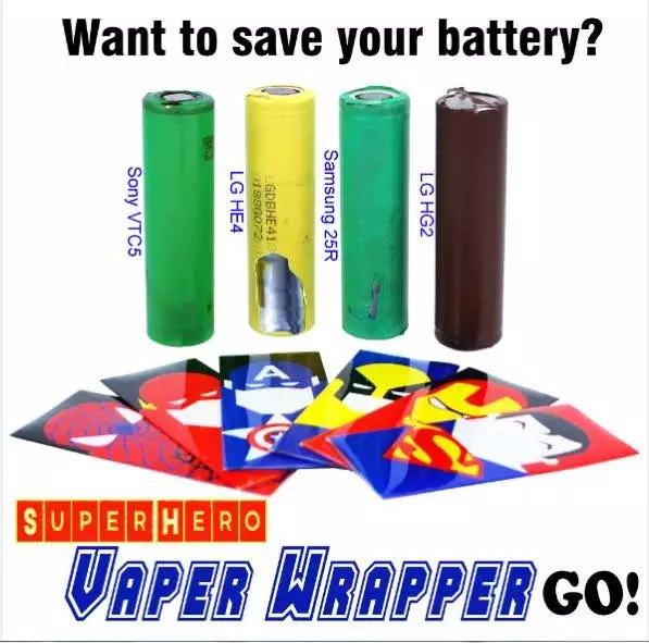 Leiqidudu батареи защищены <font><b>wrapper</b></font> Super Hero кожи стикер для электронной сигареты батареи электронной сигареты Человек-паук Капитан Америка 18650