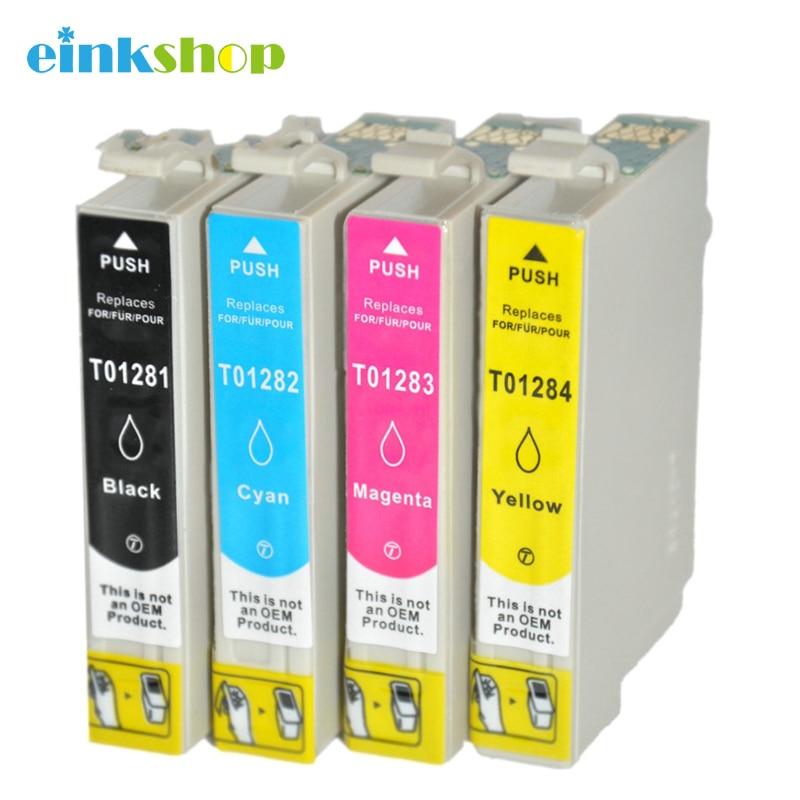 چاپگر einkshop T1281 - T1284 Ink Cartridges for Epson Stylus sx125 sx130 sx230 sx235w sx420w sx430w sx425w sx435W t1281 Printer