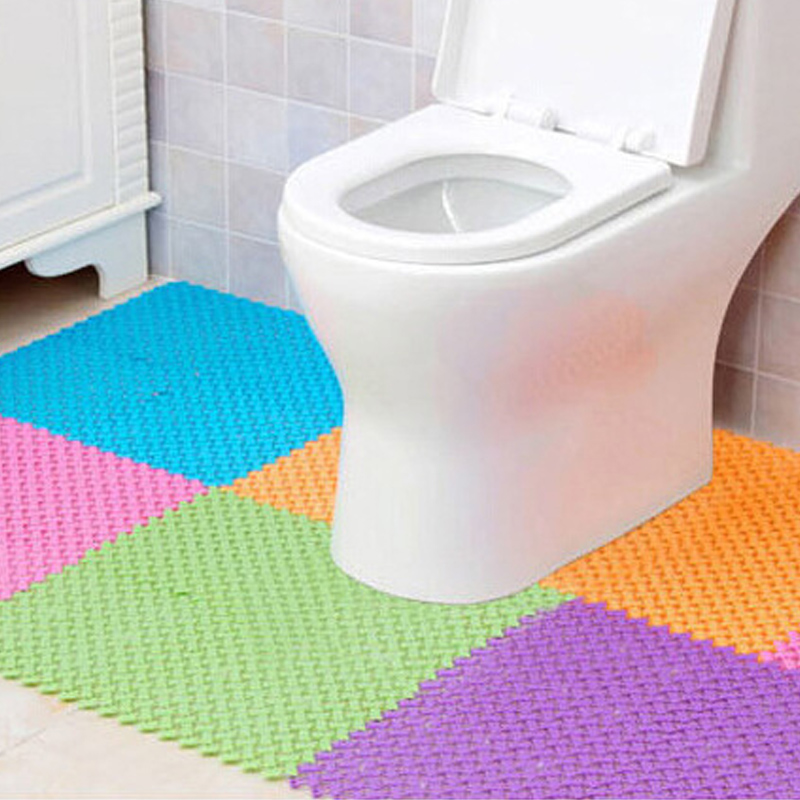 2pcs Non slip toilet floor mats bathroom carpet plastic