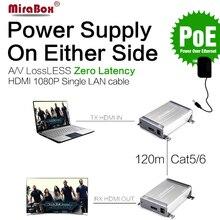 MiraBox HDMI Сетевой удлинитель отправителя и приемник по Cat5/Cat5e/Cat6 Rj45 Ethernet передачи полный HD1080p HDMI POE extender